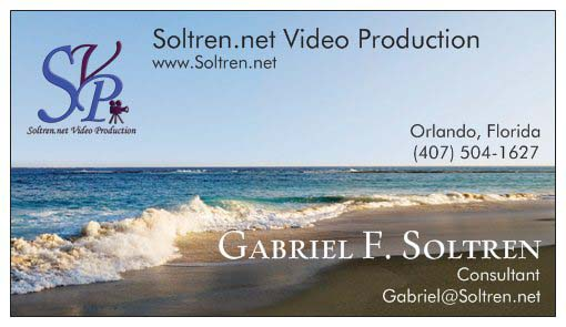 Gabriel Soltren business card