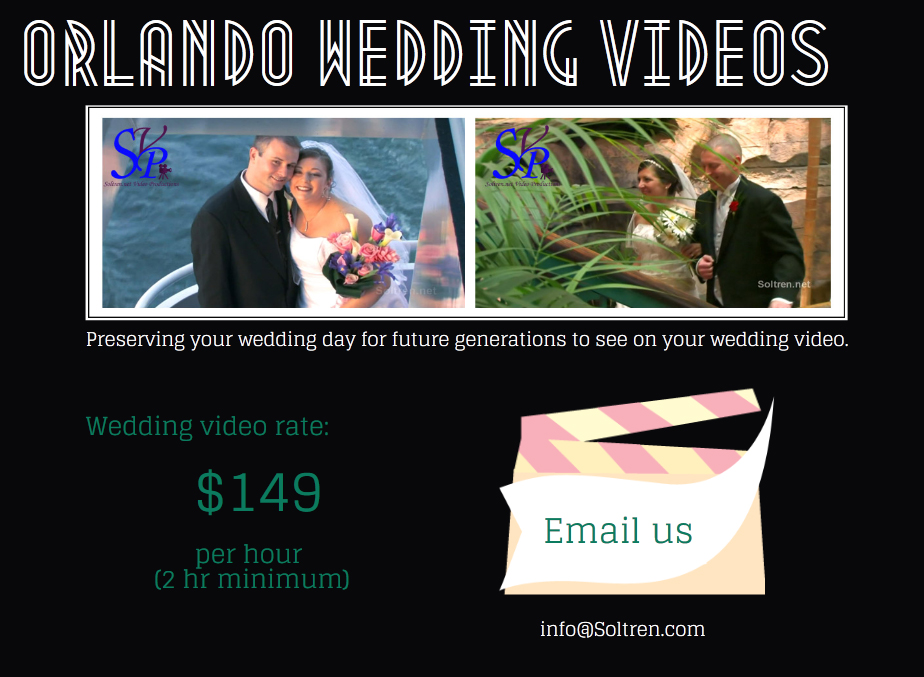 Orlando wedding video rates