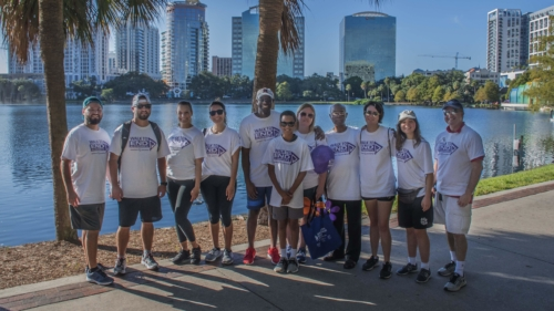 Walk to End Alzheimer's event in Orlando with the American Society for Public Administration, Gabriel Soltren